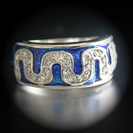A-20808 'Summer Enamel Collection' Montana Royal Blue Ring