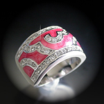 A-20812 'Summer Enamel Collection' Salmon Pink Ring