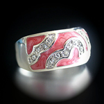 A-20813 'Summer Enamel Collection' Salmon Pink Ring