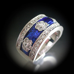 A-20815 'Summer Enamel Collection' Montana Royal Blue Ring