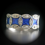 A-20824 'Summer Enamel Collection' Montana Royal Blue Ring
