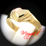 BAR-4 - Kids Heart Signet Baby Ring