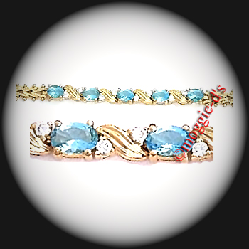 BSA-3 - March Aquamarine Birthstone Bracelet