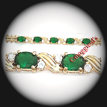 BSA-5 - May Emerald Birthstone Bracelet