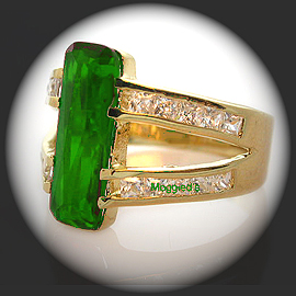 LR-63d - Ladies Created Emerald Ring