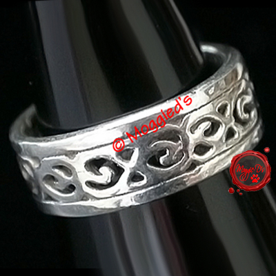 RDTR-1 - Celtic Design Solid Silver Toe Ring