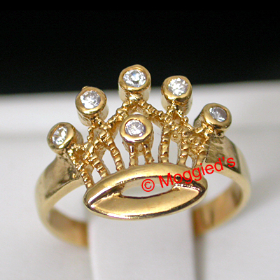 TR-30 - Swarovski Crystal Crown Toe Ring
