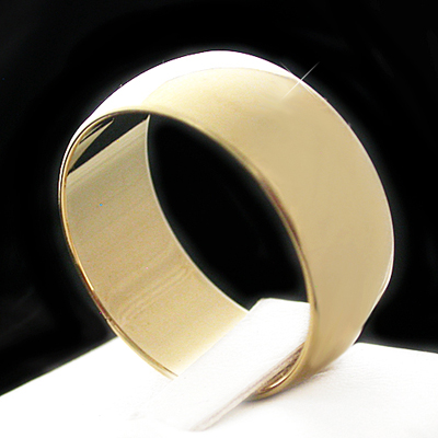 WB-8 7mm Wide Wedding Band 14K Gold GL Ring