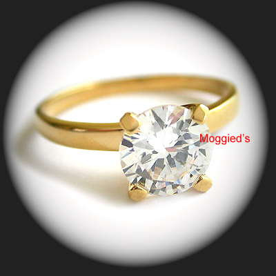 LR-25 - 9mm Created Diamond Solitaire Ring