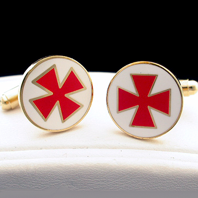 MAS#6 - Knights Templar Masonic Cufflinks
