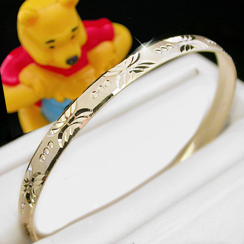 BNB-428  Kids|Baby 6mm Gold GL Bangle | SZ 1 0-9months