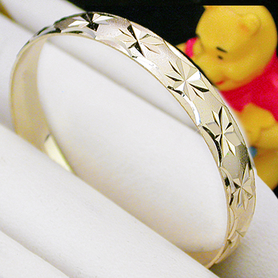 BNB-436  Kids|Baby 6mm Gold GL Bangle | SZ 4 5-9years