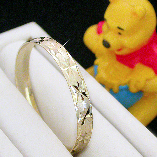 BNB-437  Kids|Baby 6mm Gold GL Bangle | SZ 2 9-24mth