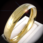 BNB-47 14mm Wide Diamond Cut Bangle