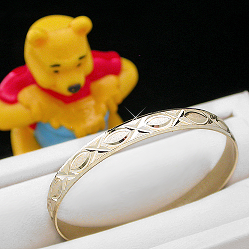 BNB-470  Kids|Baby 6mm Gold GL Bangle | SZ 3 2-5years