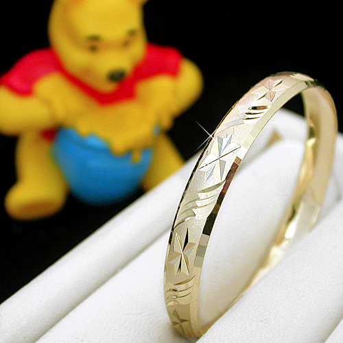 BNB-612  Kids|Baby 6mm Gold GL Bangle | SZ 3 2-5years