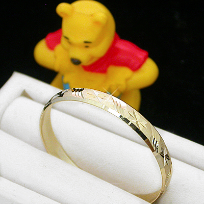 BNB-612  Kids|Baby 6mm Gold GL Bangle | SZ 1 0-9mths