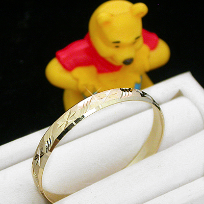 BNB-612  Kids|Baby 6mm Gold GL Bangle | SZ 4 5-9yrs