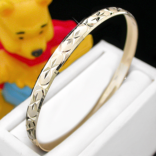 BNB-614  Kids|Baby 6mm Gold GL Bangle | SZ 1 0-9months