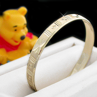 BNB-615  Kids|Baby 6mm Gold GL Bangle | SZ 1 0-9months