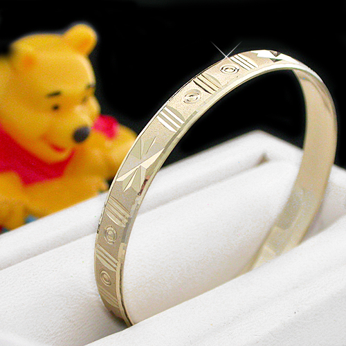 BNB-615  Kids|Baby 6mm Gold GL Bangle | SZ 3 2-5years