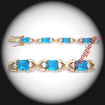 BSA-23 - March Aquamarine Birthstone Bracelet