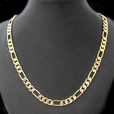 N-10g 6mm Diamond Cut Figaro Link Necklace