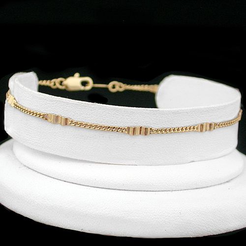 A-32f Fancy Curb Link Anklet