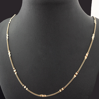 N-32f 1.5mm FANCY CURB Link 14k Gold GL Necklace