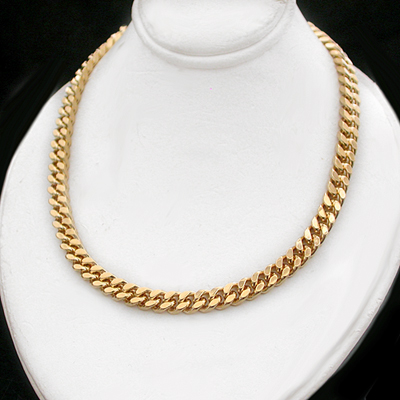 N-33a 5mm Square Curb Link 14k Gold GL Necklace