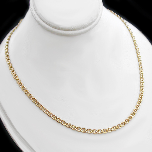 N-48b 3.5mm MARINER Link 14k Gold GL Necklace