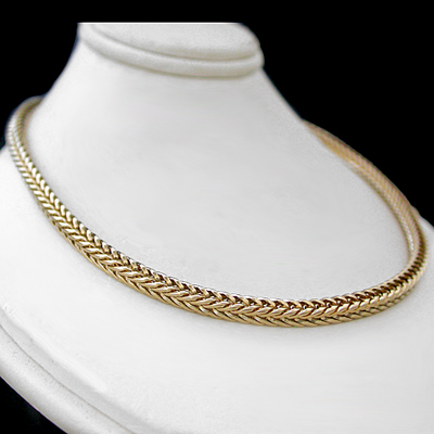 N-97g 3.5mm FRANCO Square Box Cuban Link Necklace