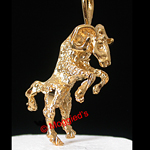 AS-4- 3D ARIES 'The Ram' ZODIAC 24K Gold Layered Pendant