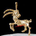 AS-1- CAPRICORN 'The Goat' ZODIAC 24K Gold Layered Pendant