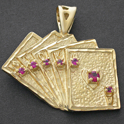 Gold charms pendant gold gold layered jewelry lifetime guarantee czp 159 14k gold gl lucky card poker hand cz pendant mozeypictures Gallery
