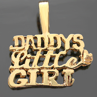 W-68- DADDY'S LITTLE GIRL Word Charm Pendant