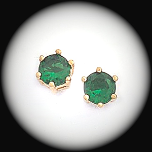 BSE-45- May Emerald Birthstone Stud Earrings