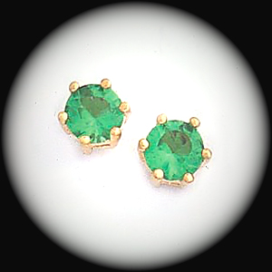 BSE-48- August Peridot Birthstone Stud Earrings