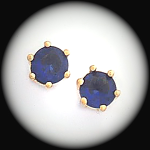 BSE-49- September Sapphire Birthstone Heart Stud Earrings