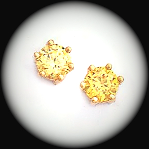 Bse 51 November Golden Topaz Stud Earrings