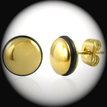 CEK-010 - Men's 9mm GOLD PVD Stainless Steel Stud Earring