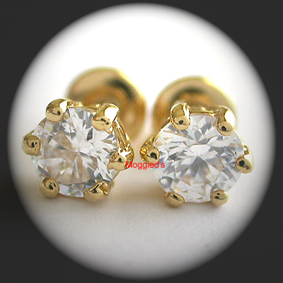 CZE-10 - 9mm Round Brilliant Stud Earrings