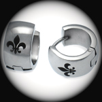 EEH-016 - Men's FLEUR DE LIS Stainless Steel Earring