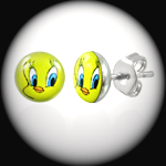 LEB-036 - Men's TWEETIE PIE Stainless Steel Stud Earring