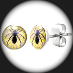 LEB-086 - Men's SPIDER WEB Stainless Steel Earring