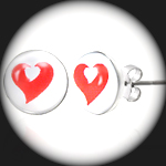 LEB-090 - Men's HEART Stainless Steel Earring
