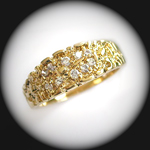 MN-32 - Mens Created Diamond Nugget Ring