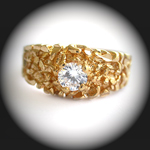 MN-30 - Mens .79ct Created Diamond Nugget Ring