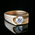 MN-39 - Mens 2.17ct Solitaire Ring