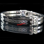 SS-1918 - Men's 10mm Greek Key Bangle/Bracelet